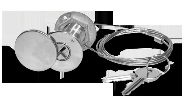 Μηχανισμός εξωτερικής απασφάλισης με κλειδί για μοτέρ οροφής EXR
