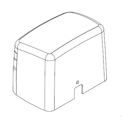 Καπάκι πλαστικό για μοτέρ VDS Simply 600 πορτοκαλί γκρι