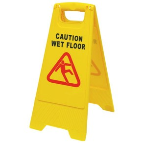 """Πλαστική πινακίδα """"WET FLOOR"""" για ειδοποίηση ολισθηρού δαπέδου"""