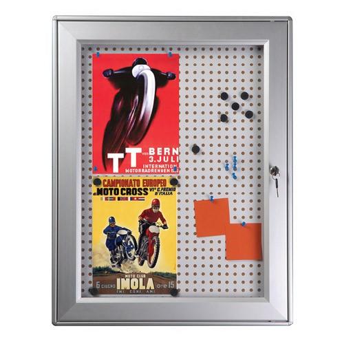Επιτοίχιος πίνακας ανακοινώσεων με πόρτα και κλειδαριά