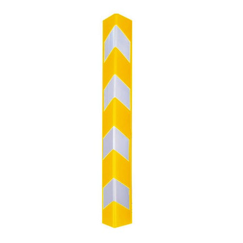 Γωνιά από πλαστικό με ανακλαστικά κίτρινη