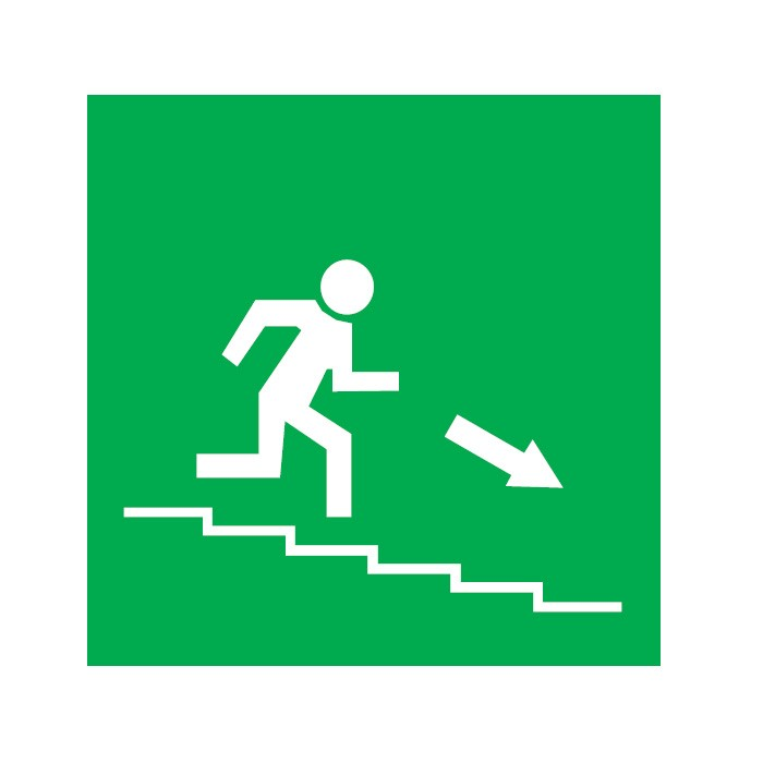 Οδός / Έξοδος κατεβαίνωντας σκαλοπάτια