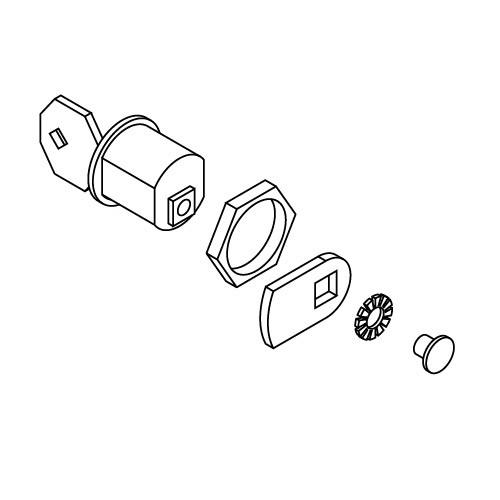 Σετ κλειδαριάς αποσύμπλεξης (αφαλός & κλειδιά) για μοτέρ VDS Simply 600 (SL600)