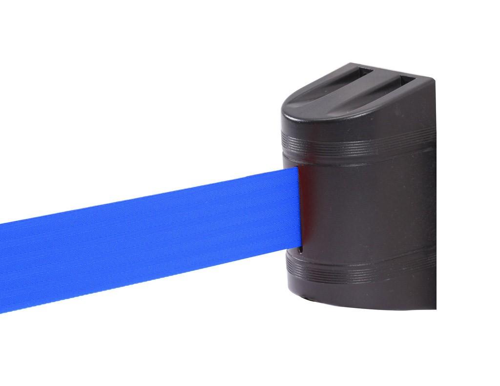 Wall Stopper με μπλε ιμάντα 5m και μαύρο πλαστικό κέλυφος από ABS