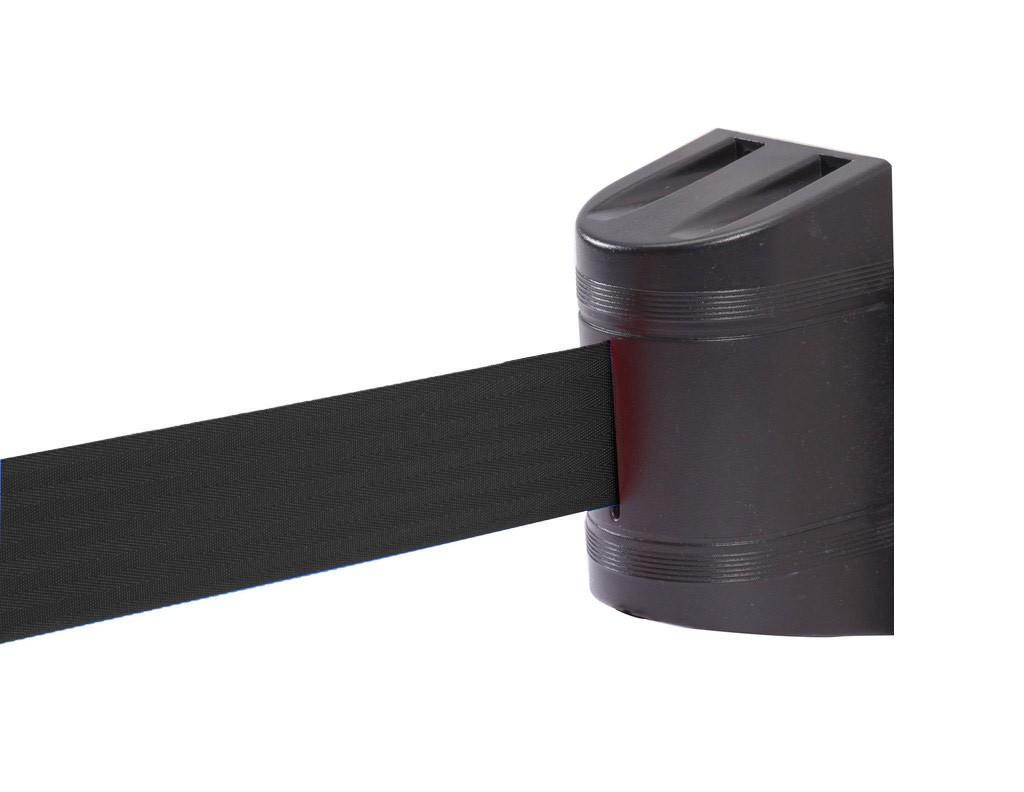 Wall Stopper με μαλυρο ιμάντα 5m και μαύρο πλαστικό κέλυφος από ABS