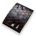 Σαμαράκι μεσαίο μήκoς 25cm x πλάτος 35cm x ύψος 5cm μαύρο KDH-216-MB