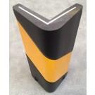 Ενισχυμένη γωνιά προστασίας από αφρό πολυουρεθάνης με δερμάτινη εξωτερική επίστρωση, εσωτερική προστατευτική πλάκα αλουμινίου και ανακλαστικές ταινίες CGI-100