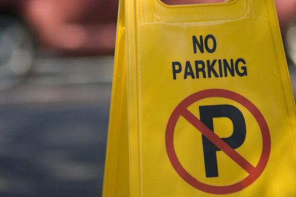 Πλαστική πινακίδα no-parking