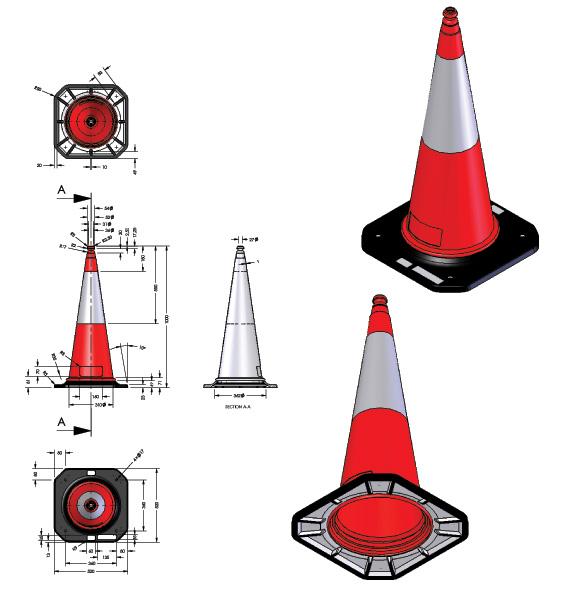 Κώνοι οδικής σήμανσης