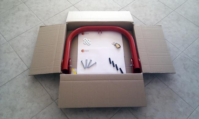 Συσκευασία δίποδης μπάρας parking SPB-2L