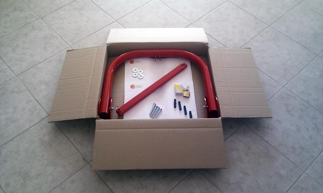 Συσκευασία τρίποδης μπάρας parking SPB-2L