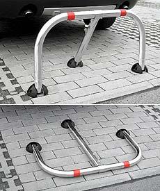 Χρήση μπάρας παρεμπόδισης στάθμευσης