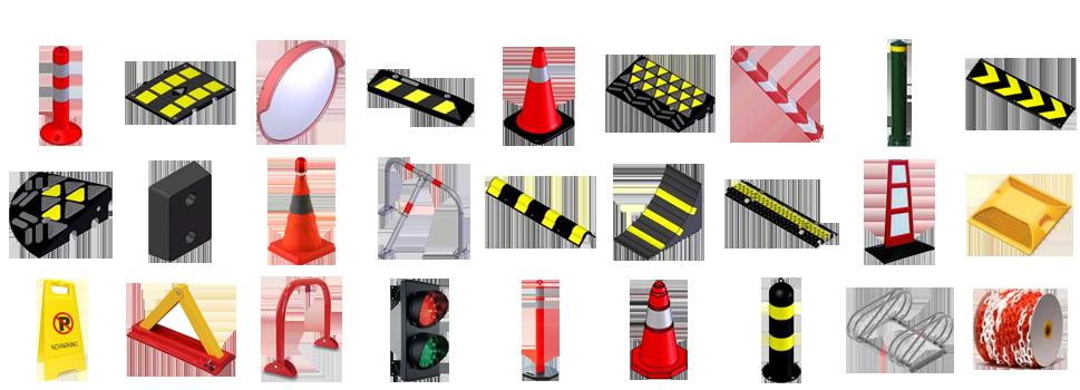 Όλος ο εξοπλισμός για το parking, το γκαράζ και την οδική ασφάλεια.