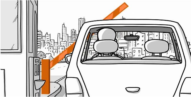Τηλεχειριζόμενες μπάρες ελέγχου κυκλοφορίας