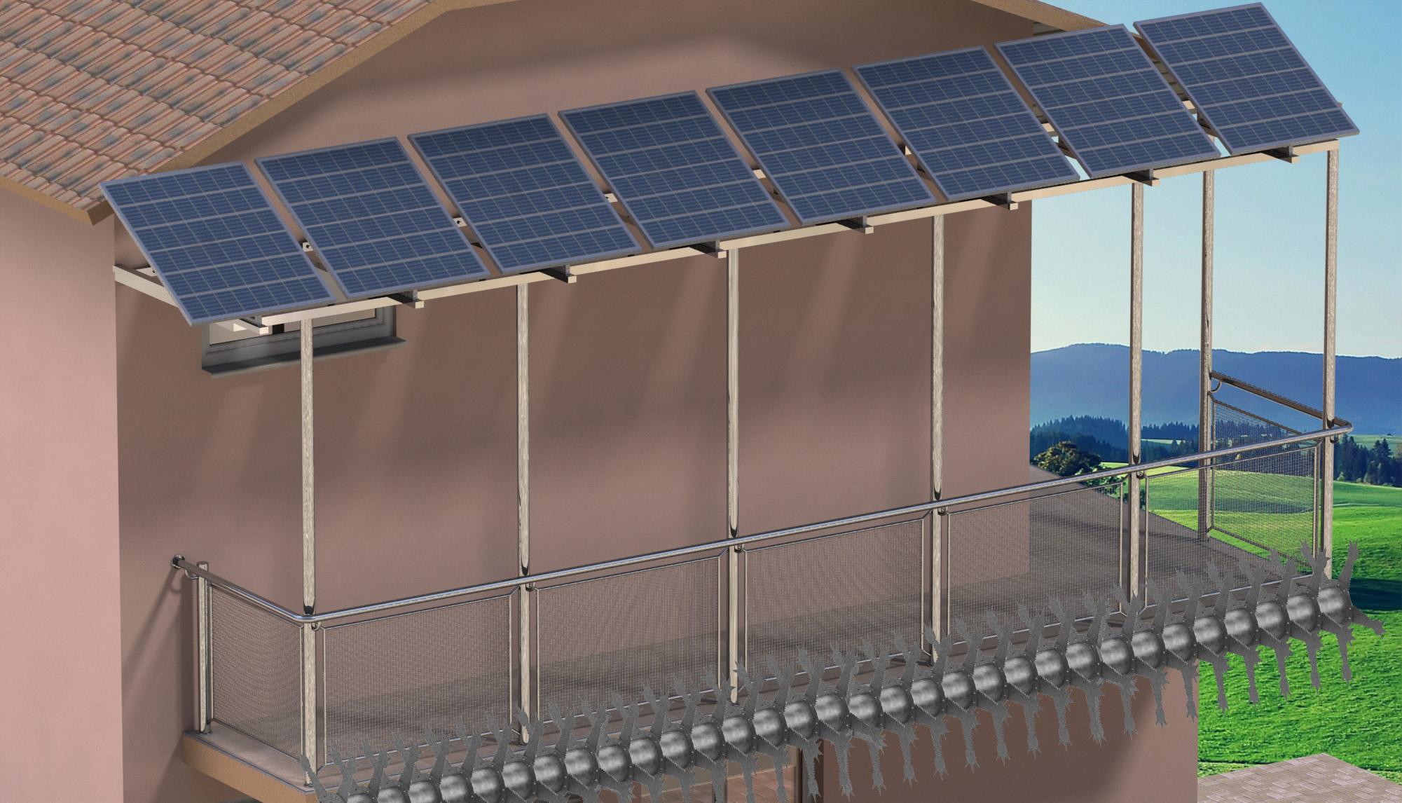 Μεταλλικός φράχτης COBRA σε μπαλκόνι σπιτιού