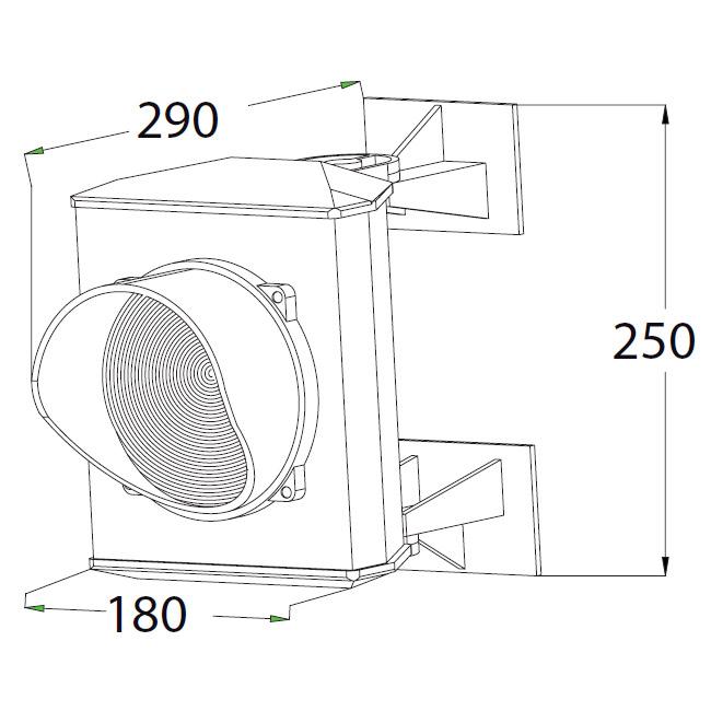Διαστάσεις φωτεινού σηματοδότη ενός φωτεινού πεδίου