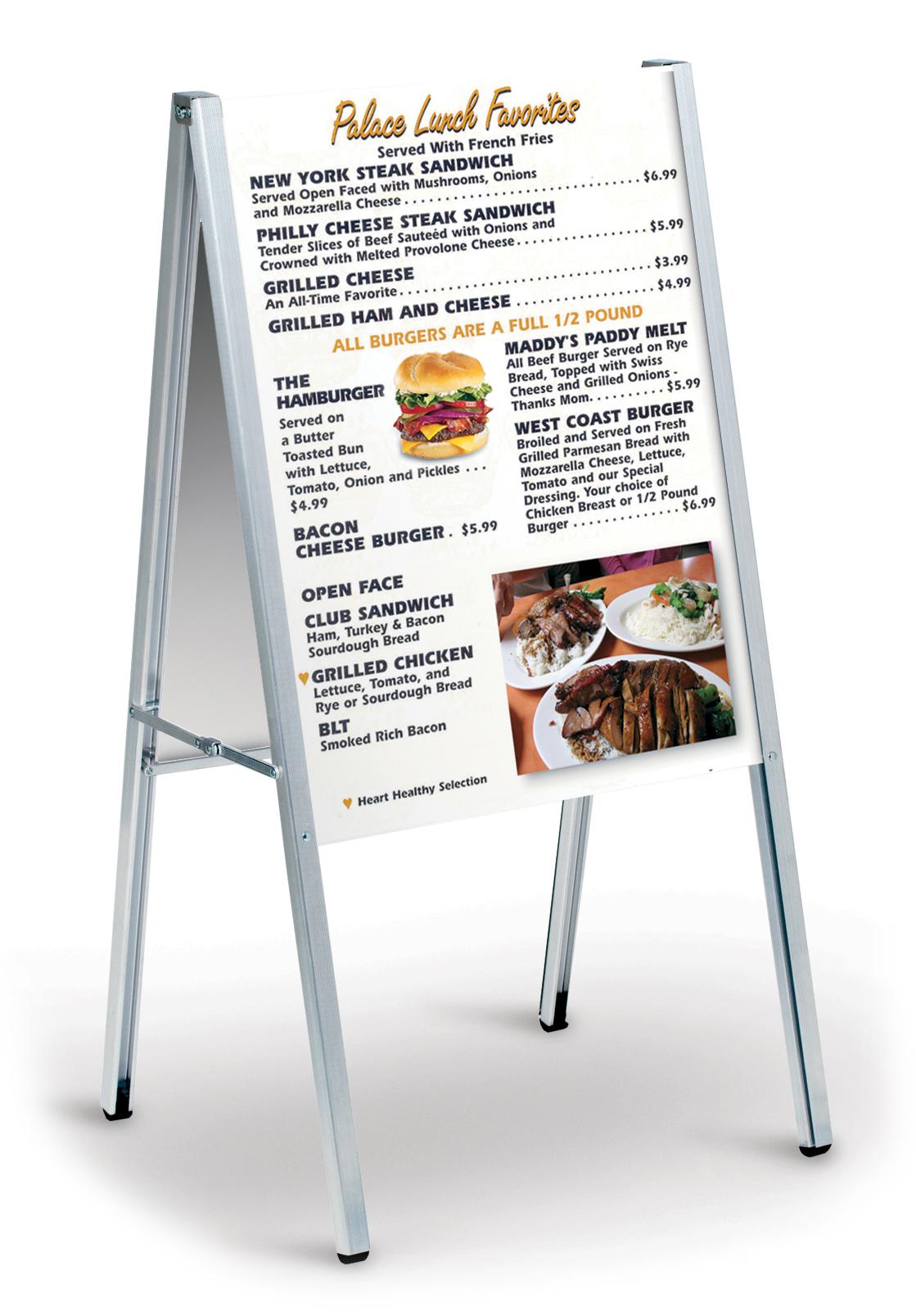 Σταντ οπτικής προβολής 2 πλευρών κατάλληλο για εστιατόρια