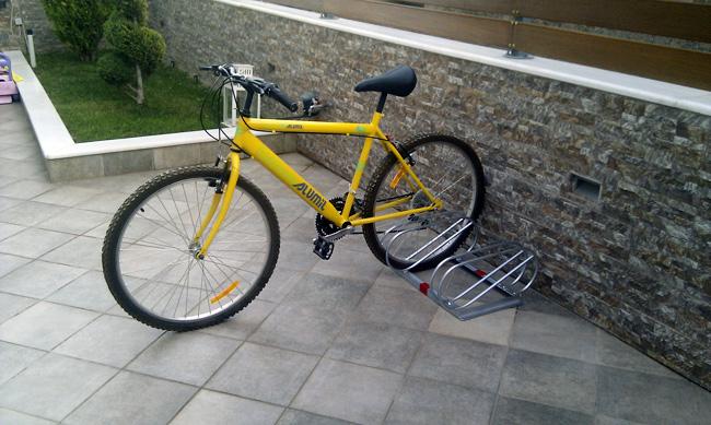 Διαστάσεις μπάρας στάθμευσης ποδηλάτων 2 θέσεων GBR-2