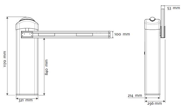 Διαστάσεις μπάρας motorline kbm6