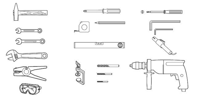 Εργαλεία εγκατάστασης