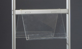 Πίνακας ανακοινώσεων επιτοίχιος για ανάρτηση με μαγνήτες και πινέζες