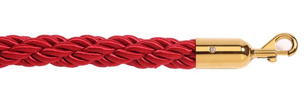 Κόκκινο σχοινί με χρυσαφί γάντζο για κολονάκια οριοθέτησης