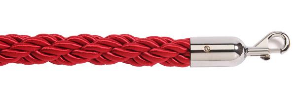 Κόκκινο σχοινί με ασημί γάντζο για κολονάκια οριοθέτησης