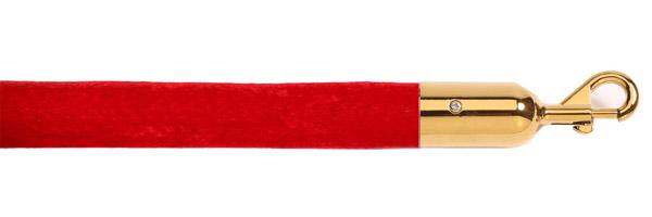 Κόκκινο κορδόνι με χρυσαφί γάντζο για κολονάκια οριοθέτησης
