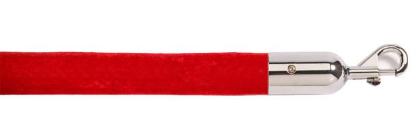 Κόκκινο κορδόνι με ασημί γάντζο για κολονάκια οριοθέτησης