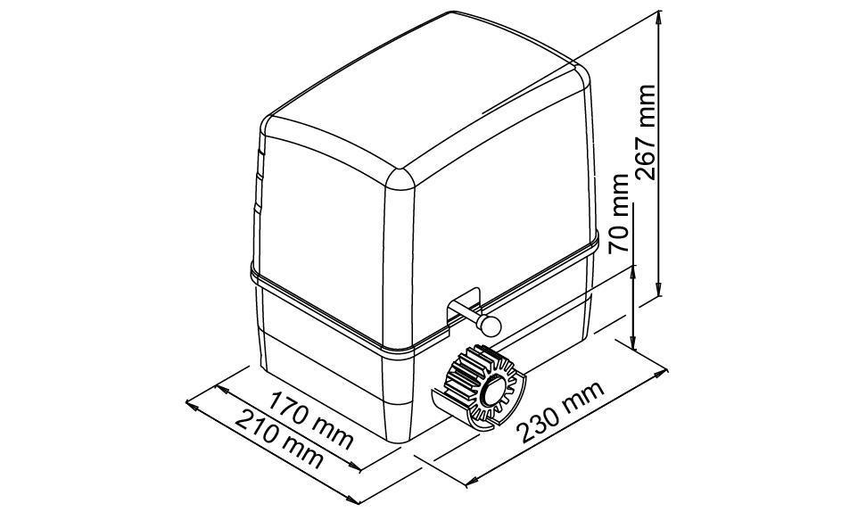 Μοτέρ για συρόμενες γκαραζόπορτες VDS SLD600